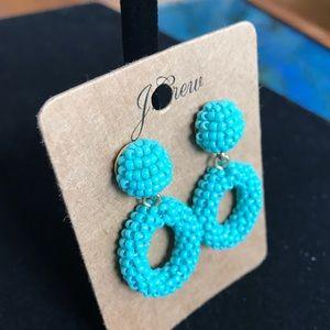 J. Crew Turquoise beads earrings